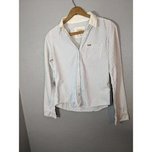 Abercrombie and Fitch Striped Button Dow